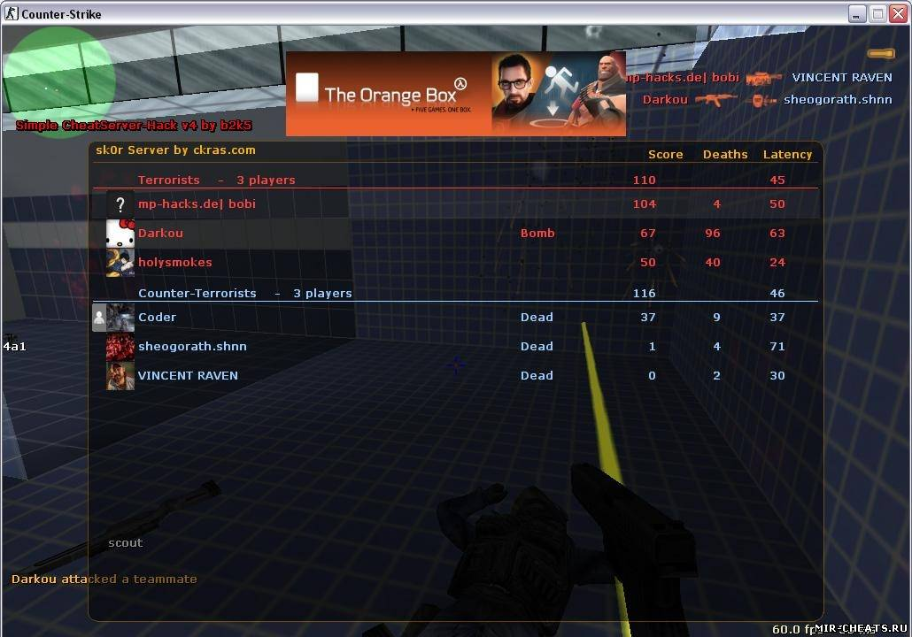 Читы для css (v34) (Counter-Strike: Source) - For-css Ru